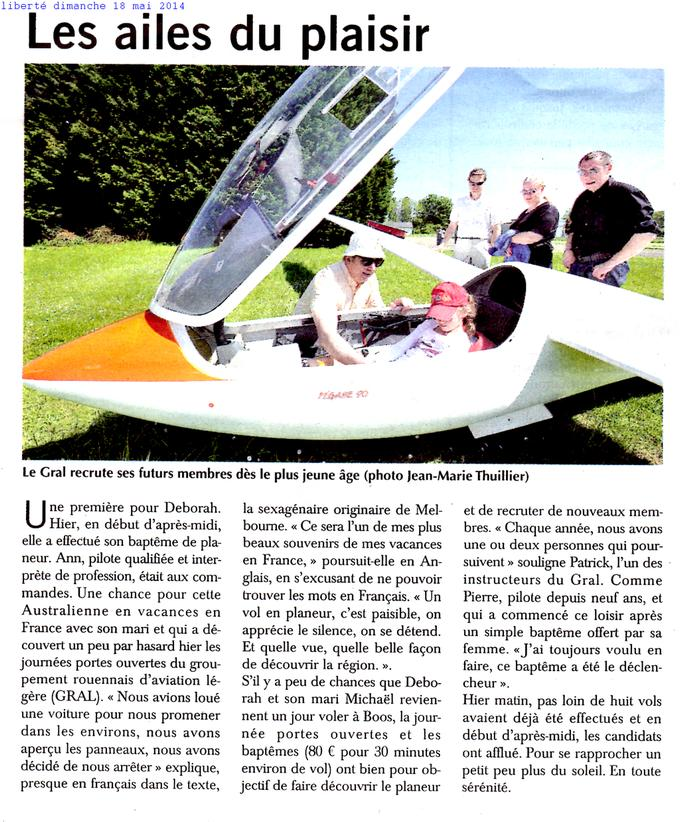 article de presse journée porte ouverte 2014
